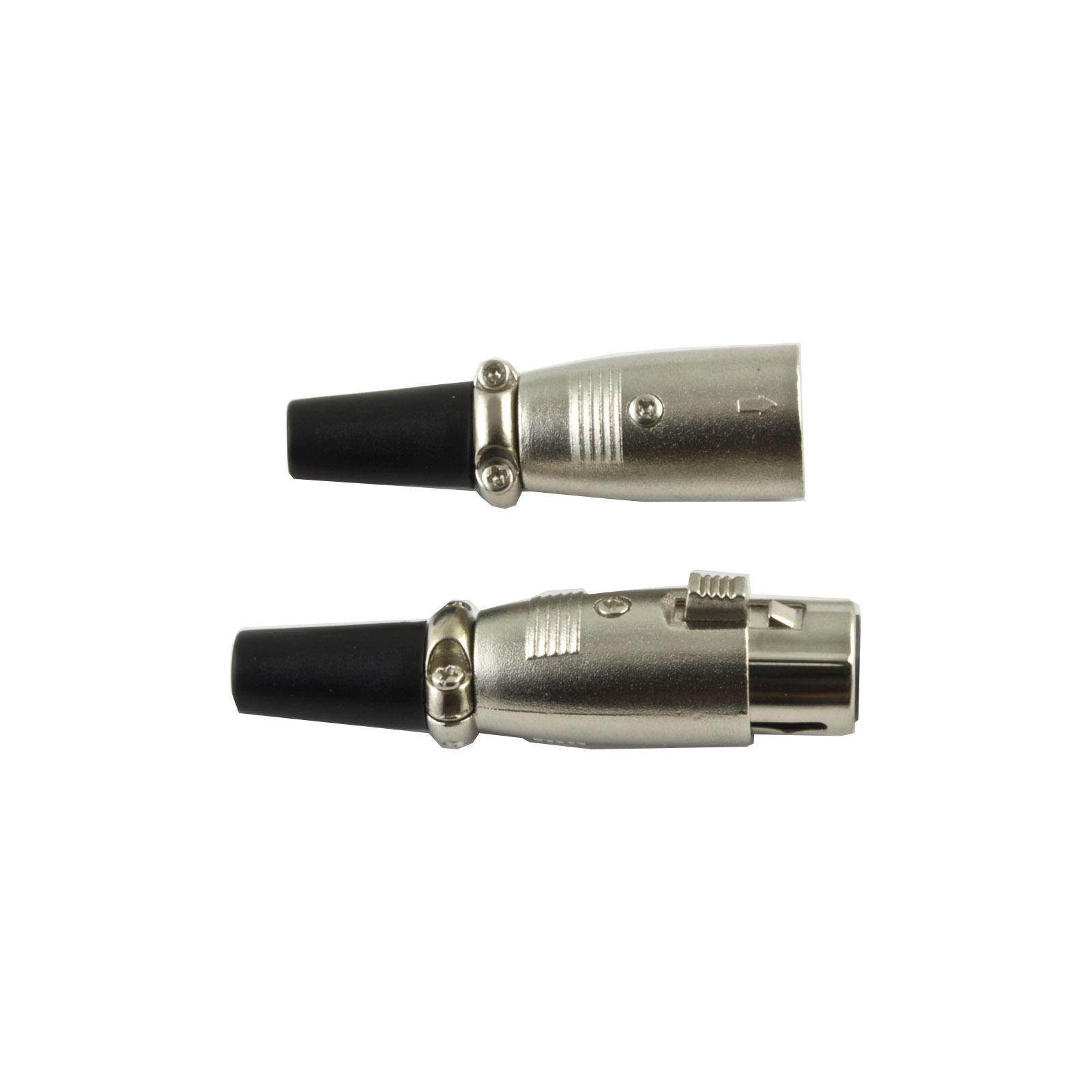 DMX XLR-3-Pin Connector Pair