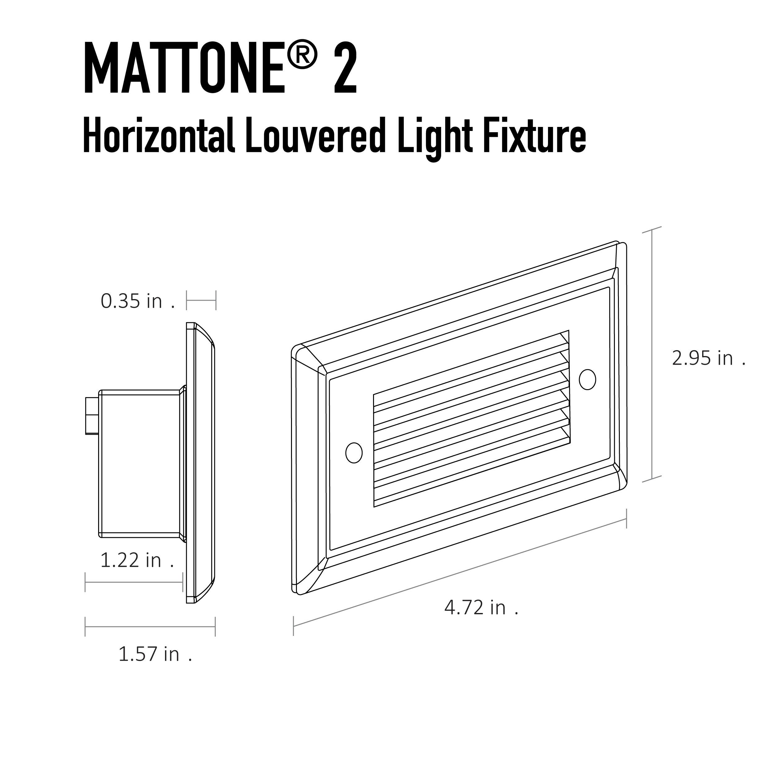mattone u00ae 2 direct wire led step light