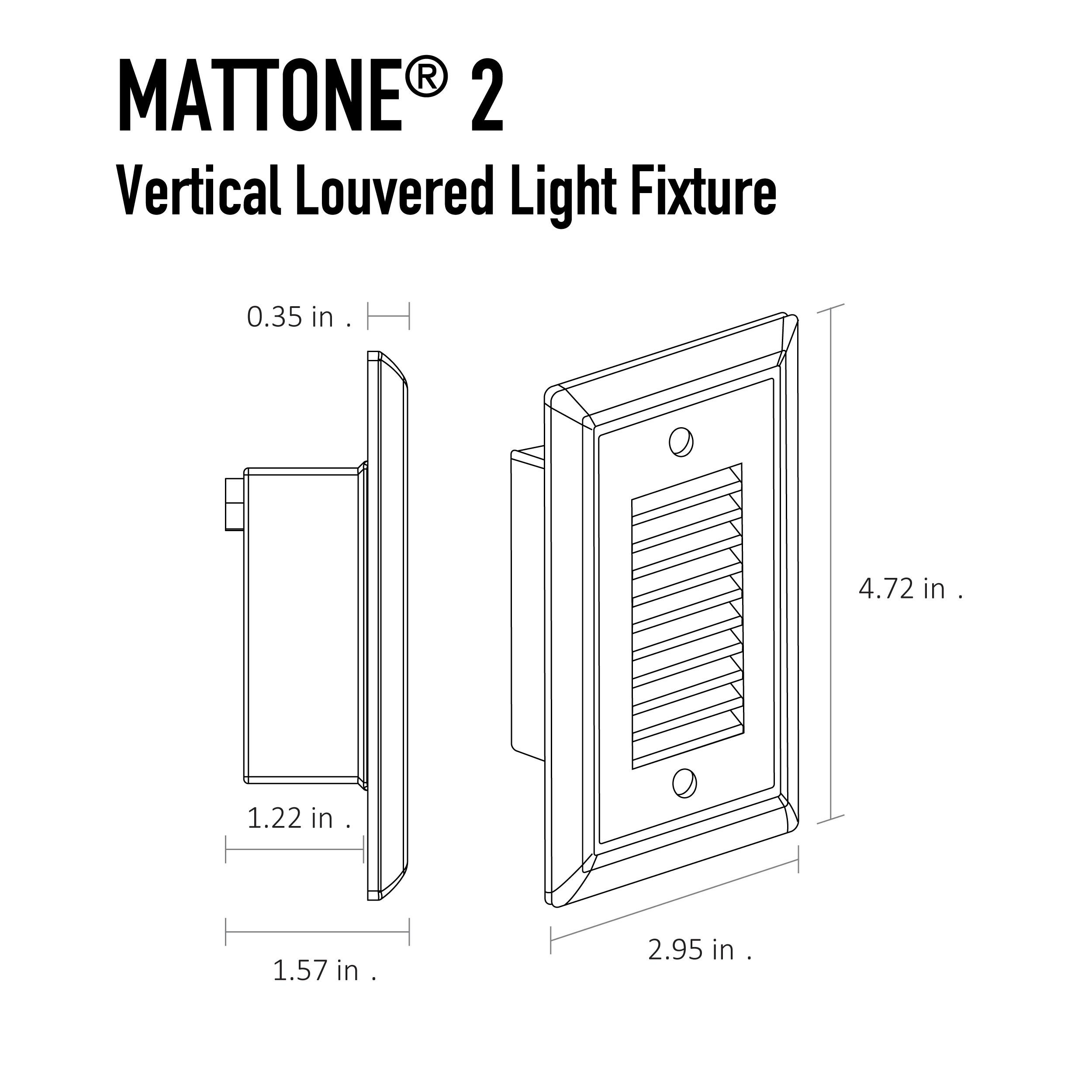 MATTONE® 2 Direct Wire LED Step Light | Diode LED