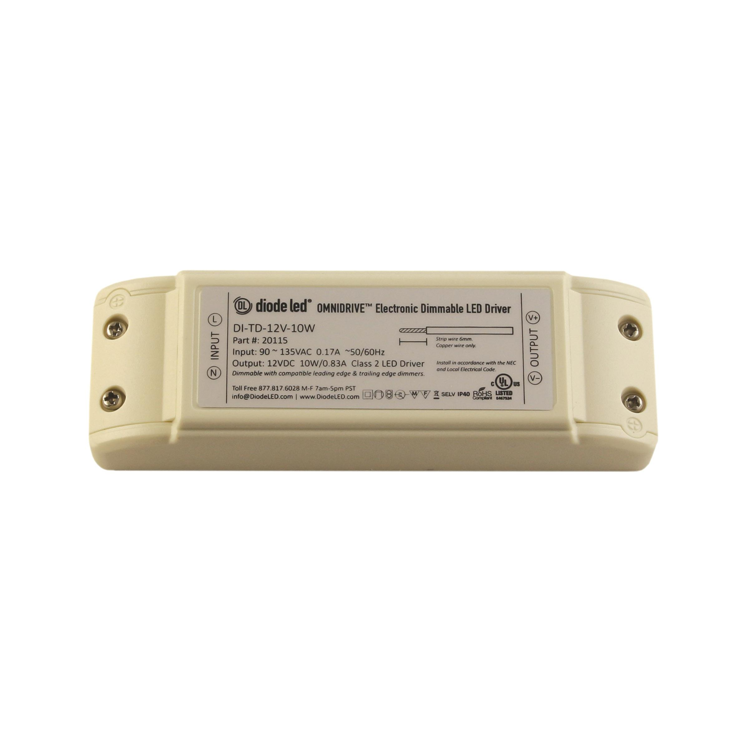 Dimmable Led Power Supplies Omnidrive Electronic Drivers Driver Dimming Supply Dimmer For Strip 12v 24v