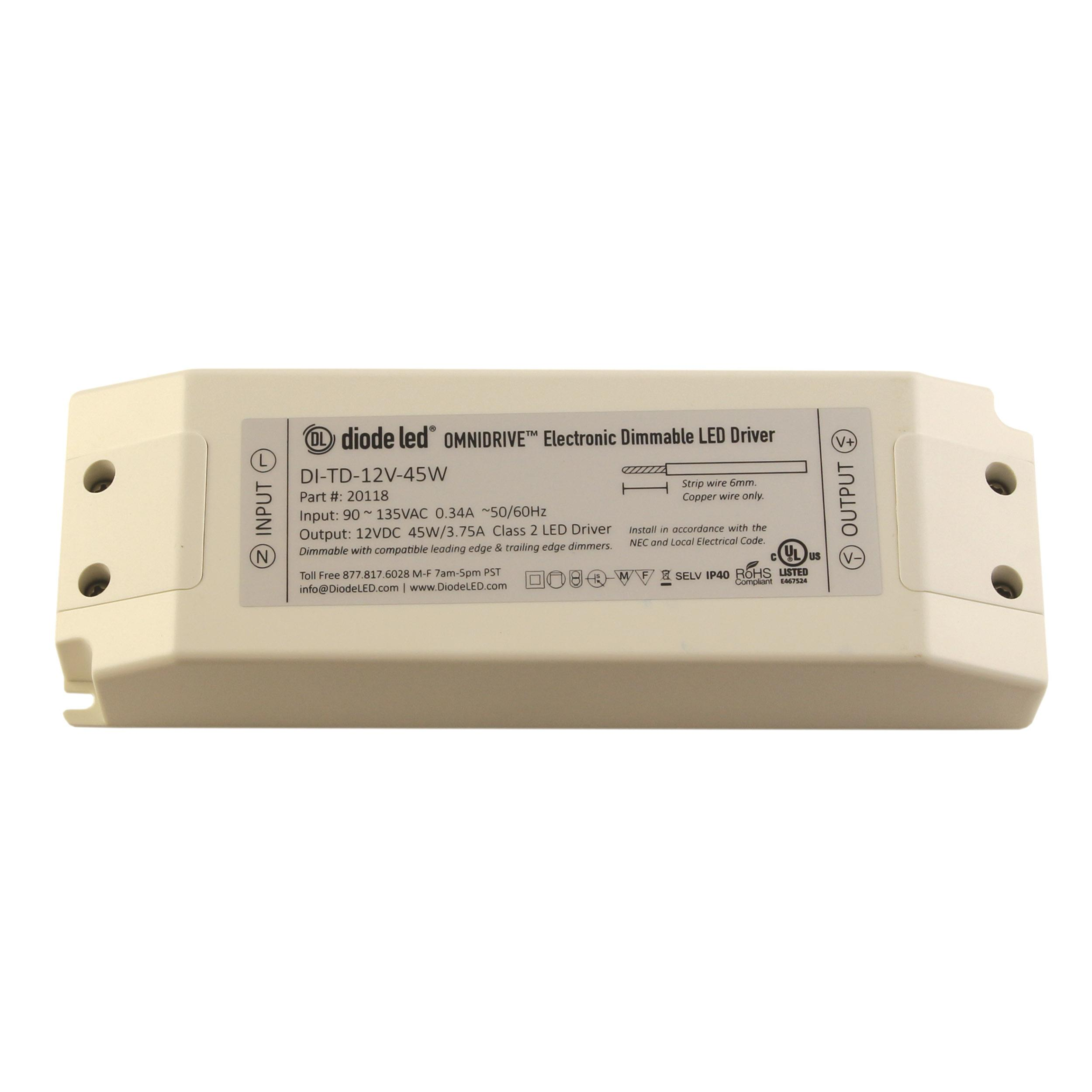 Dimmable Led Power Supplies Omnidrive Electronic Drivers Dimming Driver Wiring Diagram Control Panel Dimmer 0 10v