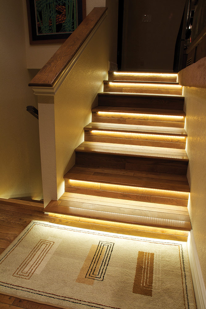 Lighting Basement Washroom Stairs: Ambient Staircase Lighting