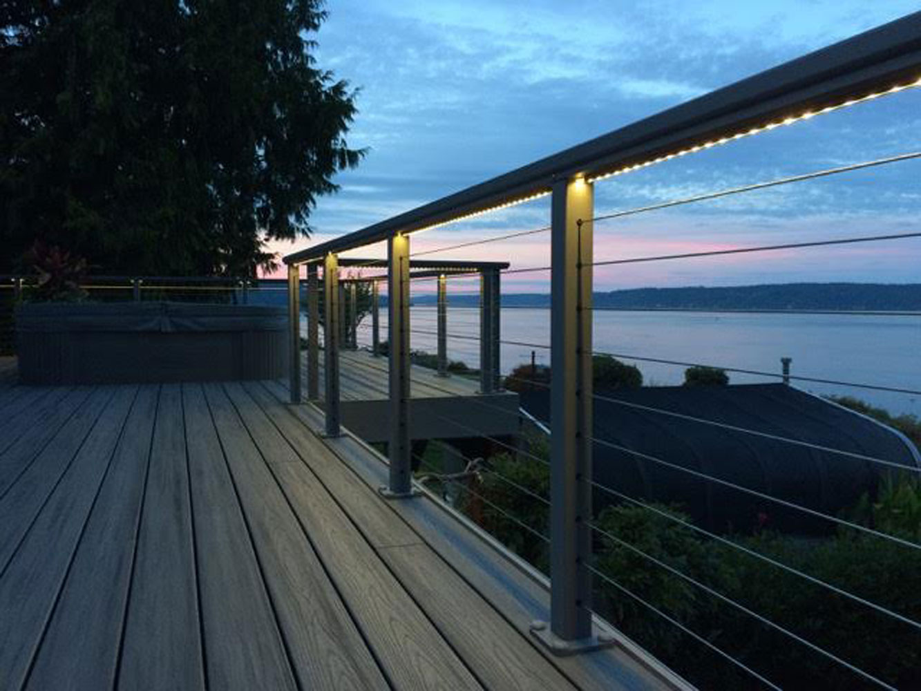 Outdoor Deck Lighting with HYDROLUME®