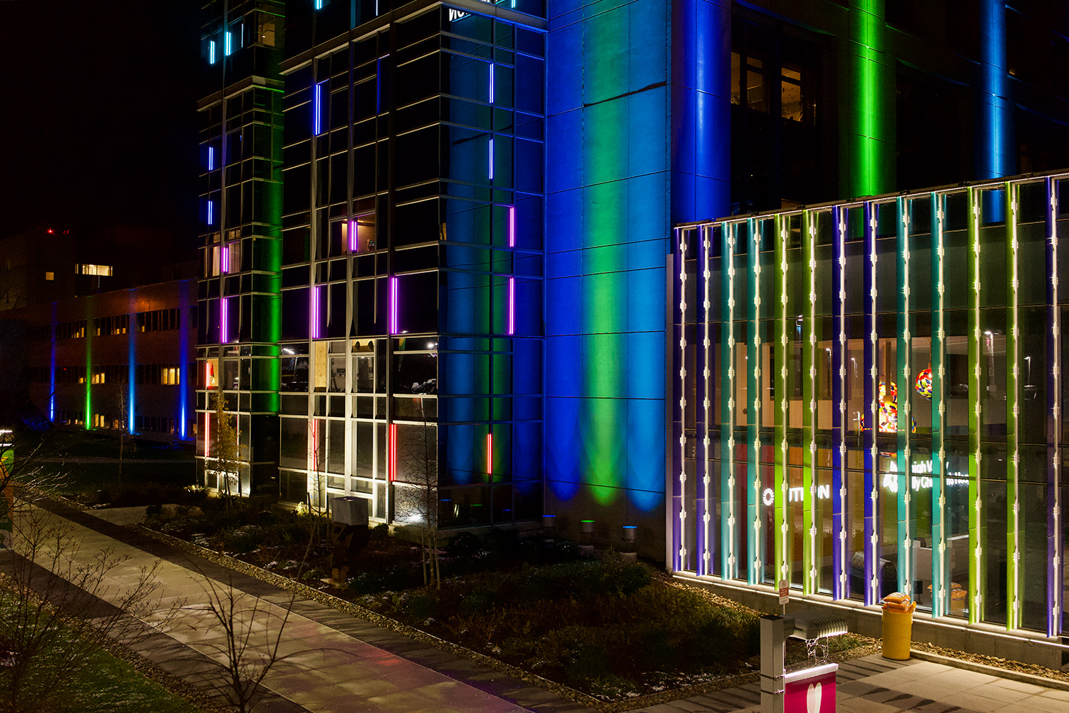 Children's Hospital NEON BLAZE™ RGB Color Changing Building